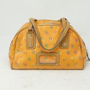 Dooney & Bourke Monogram Leather Satchel